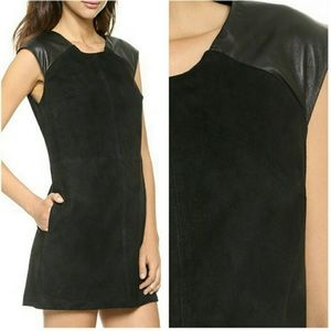 True Religion Suede Leather Mod Shift Dress
